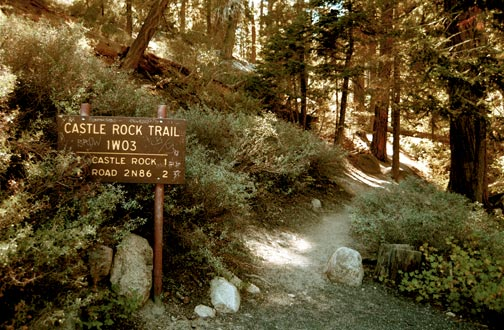 The Castle Rock trailhead off of Highway 18.