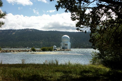The Big Bear Solar Observatory located near the west end of the bike path.