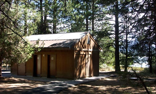 With clean and well maintained restrooms, Meadows Edge picnic area is a good place for a pit stop as you trvel along Big Bear's Alpine Pedal Path.