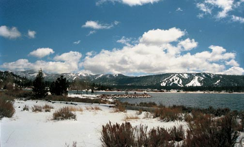 Winter is a beautiful time of year on the Big Bear Lake Bike Path.