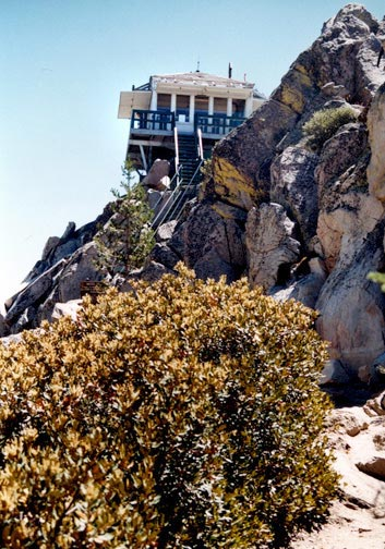 The Butler Peak Fire Lookout Tower. © Rick Keppler