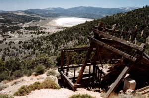Looking out over Baldwin Lake from the old Gold Mountain mine. © Rick Keppler