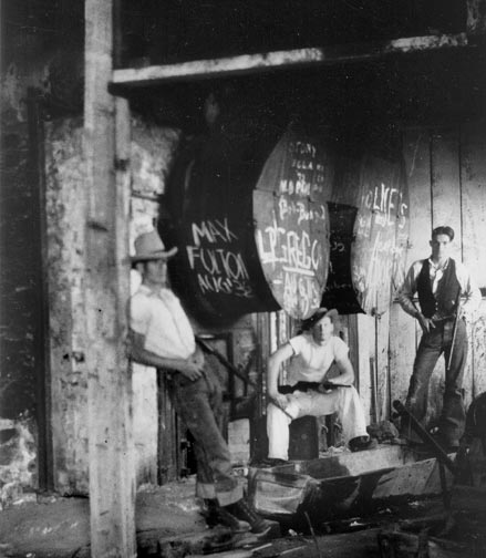 The Gold Mountain stamp mill boiler room. In later years, the stamp mill operated on electric power. - Rick Keppler collection.
